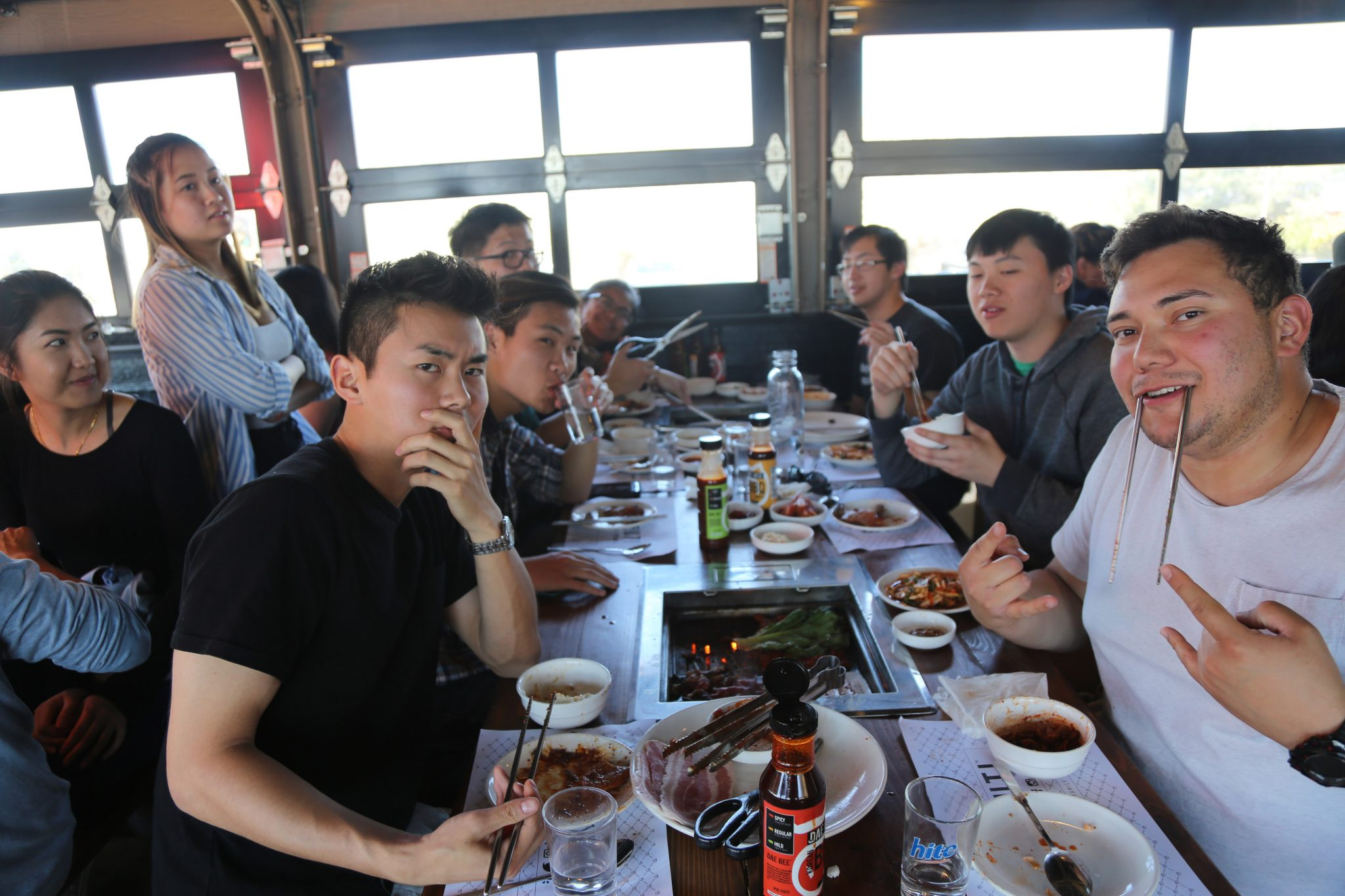 Mentors and mentees at our recent Denver Trip for Korean BBQ